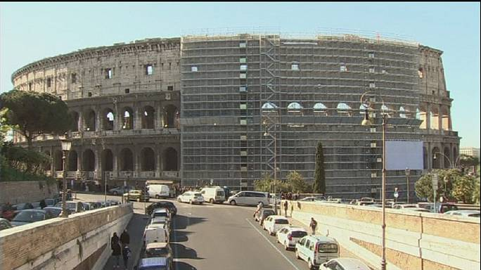 Rome's pride revealed: Colosseum clean-up underway
