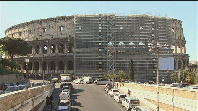 El Coliseo de Roma lucirá su color original tras las obras de restauración