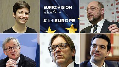 Letzte Debatte der Europawahl-Top-Kandidaten