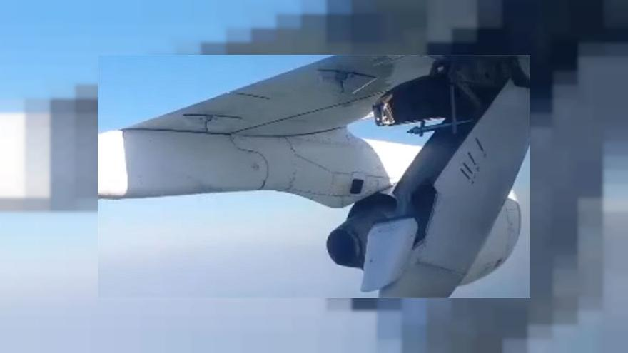Watch: Drama as part of plane's wing collapses mid-flight
