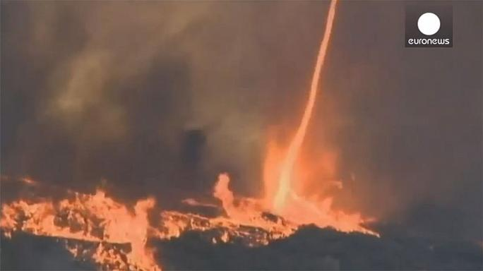 Watch: 'Firenado' caught on camera in California