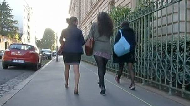 Boys wear skirts for school in France in pro-equality protest