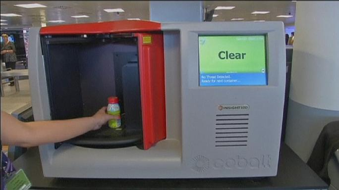 Scanning liquids at airports