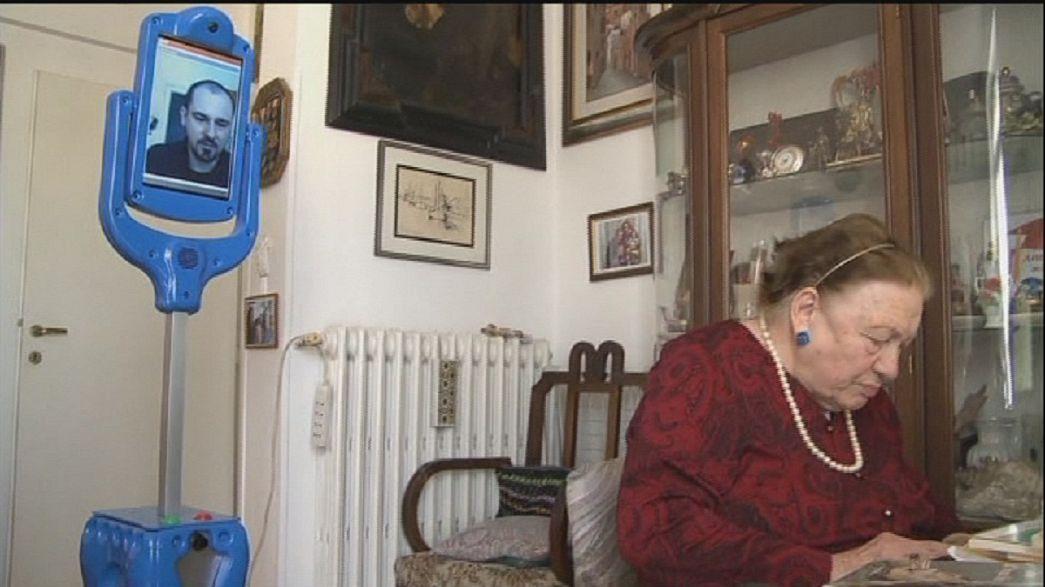 Skype-like robot stands in as caregiver for elderly