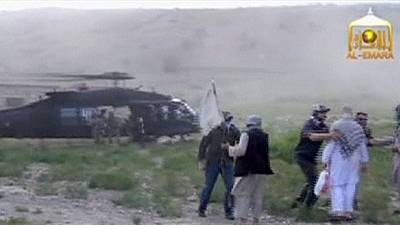 Taliban video released showing 'return of Bowe Bergdahl to US authorities'