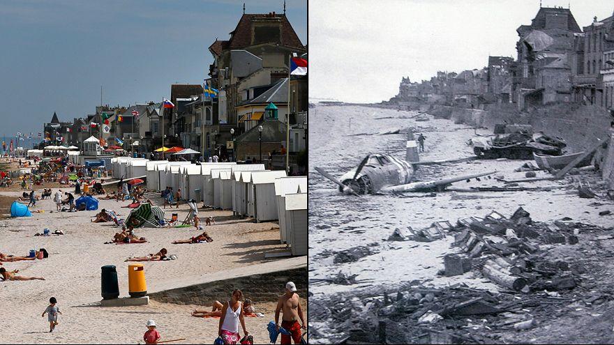 """En imágenes: los paisajes del """"Día-D"""" hace 70 años y hoy"""