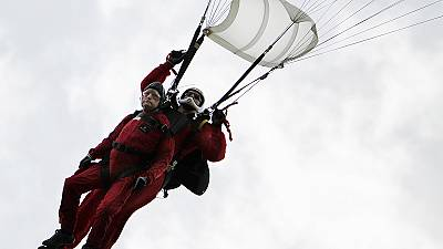 D-Day: 89-year-old veteran repeats parachute jump into Normandy