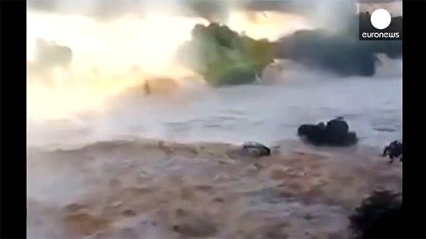 """""""Infierno de agua"""" en las cataratas del Iguazú"""