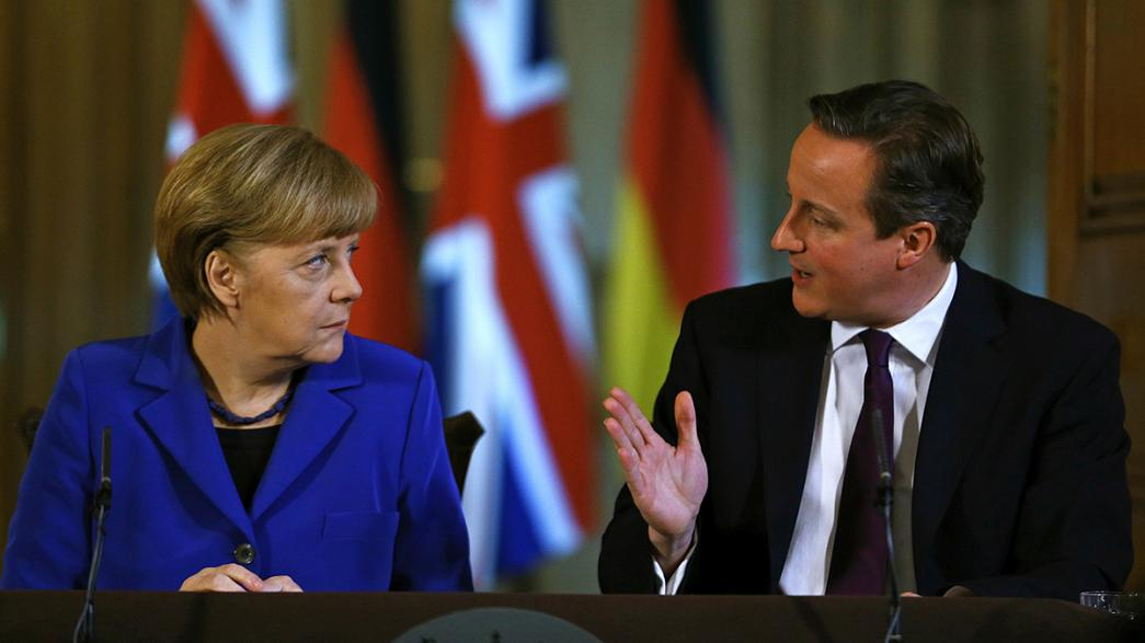 Tensions flare as Cameron's eurosceptic ECR group welcomes Merkel rival AfD