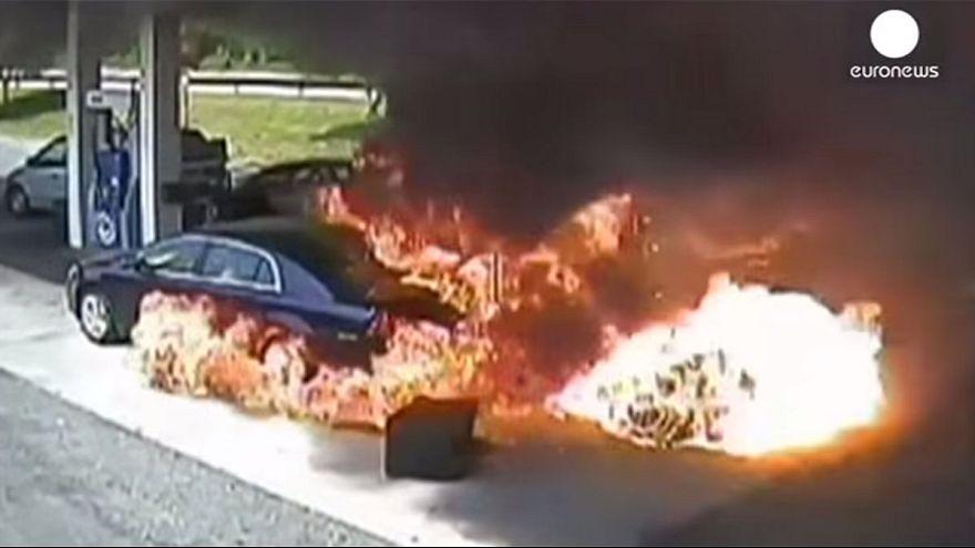 Watch: Drama as off-duty cop saves man from petrol pump blaze
