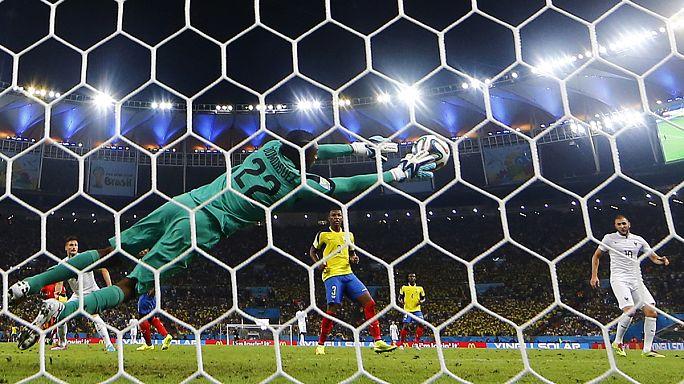 La France et la Suisse en huitièmes de finale