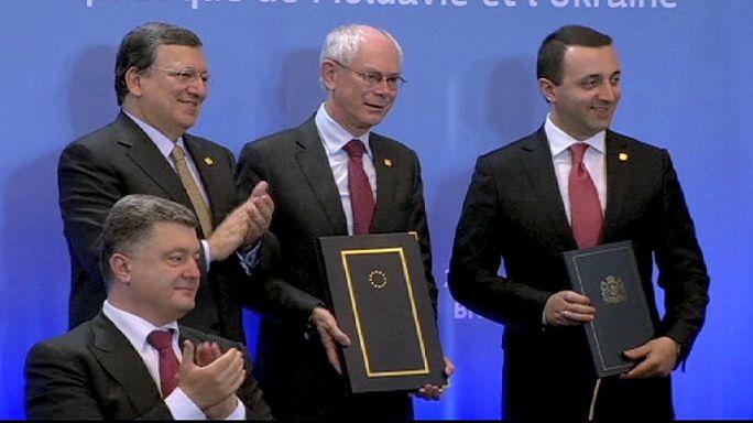 Ukrayna, Gürcistan ve Moldova AB ile ortaklık anlaşmasını imzaladı