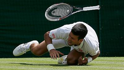 Novak Djokovic injured in Wimbledon
