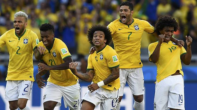 Hosts Brazil and Colombia progress to quarter-finals