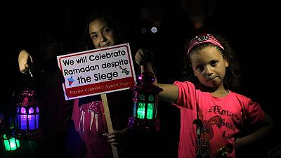 Children of Gaza celebrating Ramadan