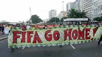 Silent protest in Rio against World Cup