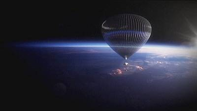Rejoindre l'espace en ballon... rentrer en parapente