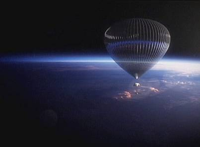 Helium Ballons in Space