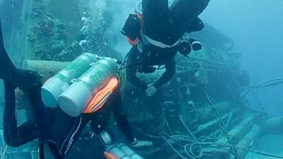 Fabien Cousteau surfaces after record-breaking 31 days underwater
