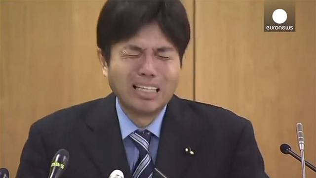 Watch: Japan MP's remarkable response to corruption allegations