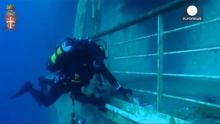 Watch: underwater footage from inside the wreck of Costa Concordia