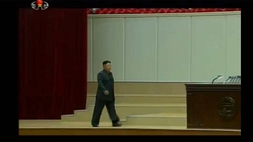 North Korea's Kim takes centre stage with a limp