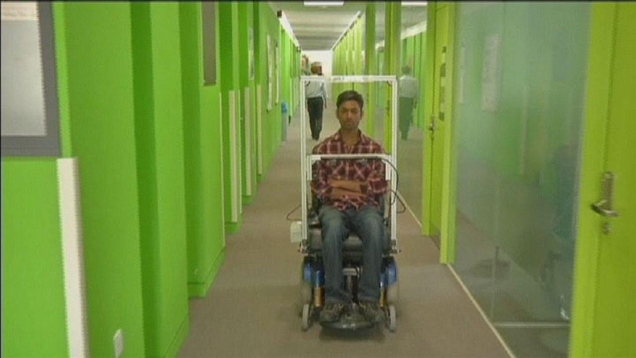 Eyetracking lenkt Rollstuhl in gewünschte Richtung