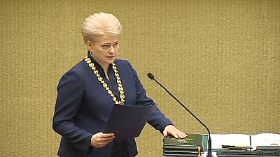 Lithuania's first female president sworn in for second term