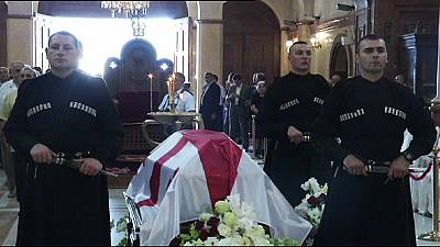 Eduard Shevardnadze is buried in his native Georgia