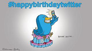 """Oito anos a """"twittar"""""""