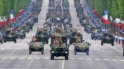 French parade military muscle on nation's birthday