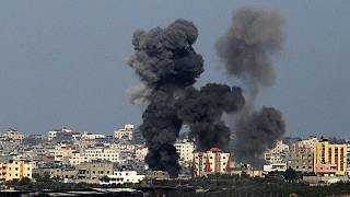 Knocking on the roof caught on camera in Gaza