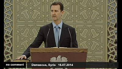 Syrian President Bashar al Assad is sworn in for a new seven-year term – nocomment