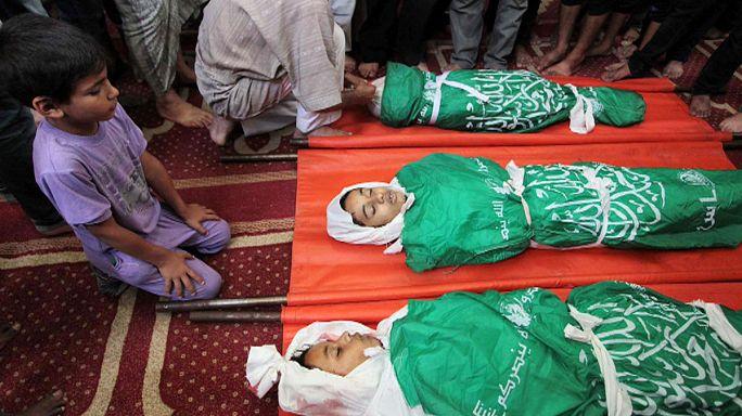ارتفاع في حصيلة الضحايا والنازحين في غزة وتحركات دبلوماسية لوقف اطلاق النار