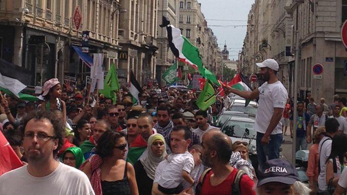France: manifestations pro-palestiennes et affrontements avec la police