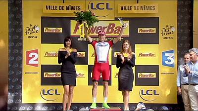Tour de France: Kristoff wins in Nimes for second stage triumph