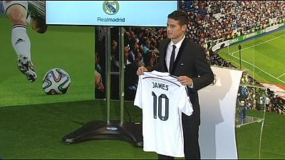 Rodriguez unveiled at Real Madrid
