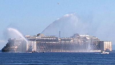 Costa Concordia finally clear of Giglio, destined for dismemberment