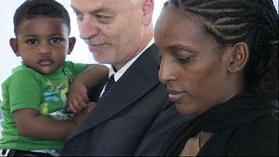 Sudanese mother sentenced to death in Sudan meets the Pope in Rome