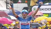Tour de France: Navardauskas wins stage 19 as Nibali edges closer to title