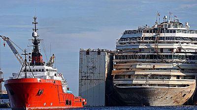 Costa Concordia cut up for scrap in 100 million euro demolition operation