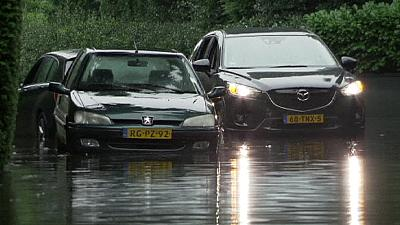 Heavy rain and flooding in the Netherlands