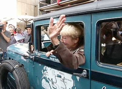 German pensioner sets off on two year world trip in vintage car
