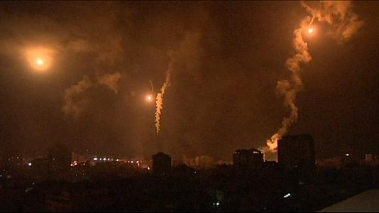 Israeli launches night time air strikes on Gaza