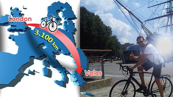 Από το Λονδίνο στο Βόλο με ποδήλατο για φιλανθρωπικό σκοπό!