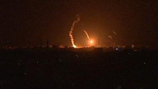 Gaza left without electricity after strike hits power plant