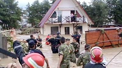 Torrential rain causes widespread flooding in southwest Romania