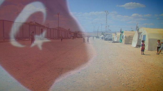 Szíriai menekültek Törökországban - robbanásveszély