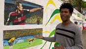 Brazilian artist remembers World Cup with massive mural