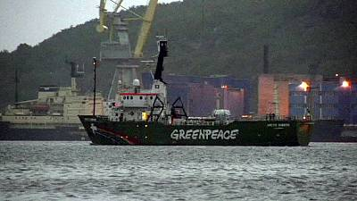 Greenpeace ship Arctic Sunrise leaves Russia
